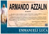 Necrologio di AZZALIN ARMANDO
