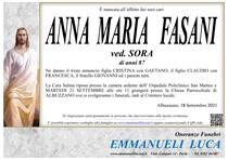 Necrologio di FASANI ANNA MARIA ved. SORA