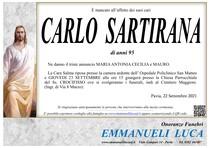 Necrologio di SARTIRANA CARLO