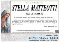 Necrologio di STELLA MATTEOTTI ved. BARBIERI