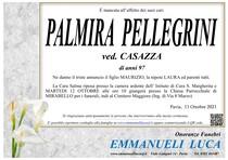 Necrologio di PALMIRA PELLEGRINI ved. CASAZZA