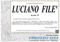 Necrologio di FILE' LUCIANO