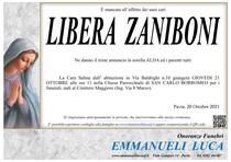 Necrologio di LIBERA  ZANIBONI