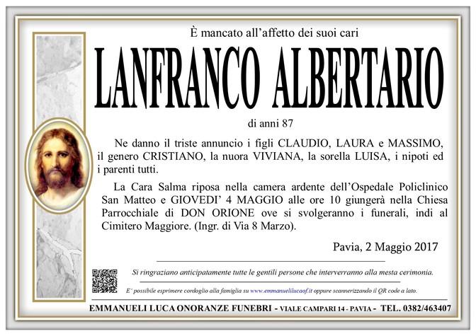 Necrologio di LANFRANCO ALBERTARIO