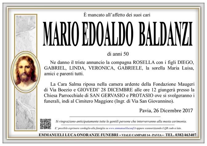 Necrologio di MARIO EDOALDO BALDANZI