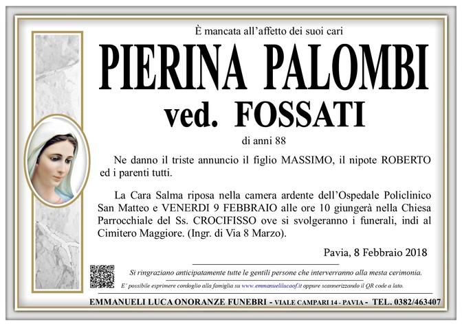 Necrologio di PIERINA PALOMBI ved. FOSSATI