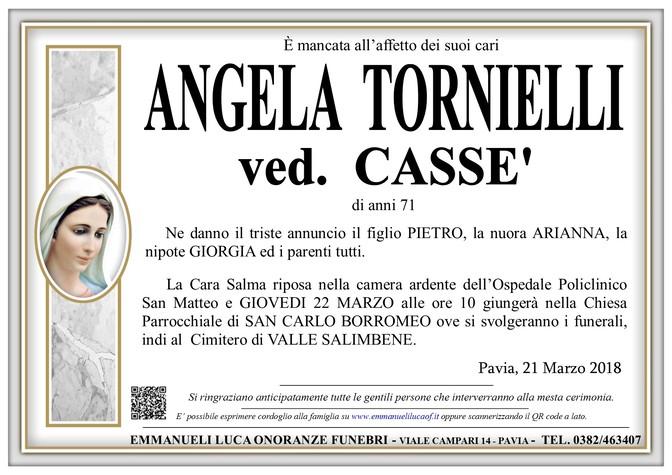 Necrologio di ANGELA TORNIELLI VED. CASSE'