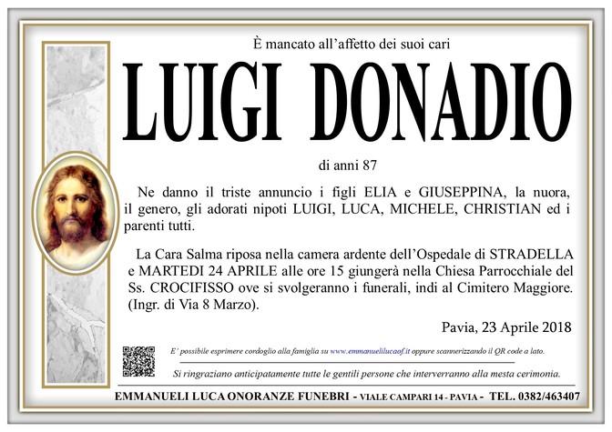 Necrologio di LUIGI DONADIO