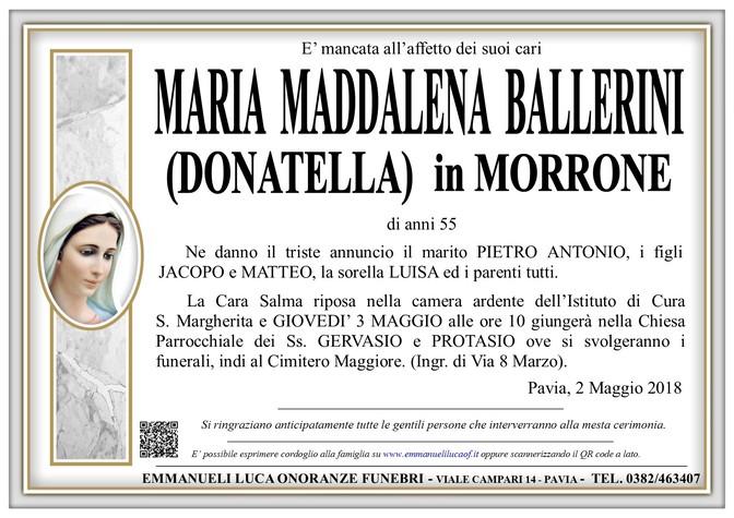 Necrologio di MARIA MADDALENA BALLERINI (DONATELLA) in MORRONE