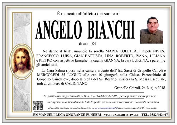 Necrologio di ANGELO BIANCHI