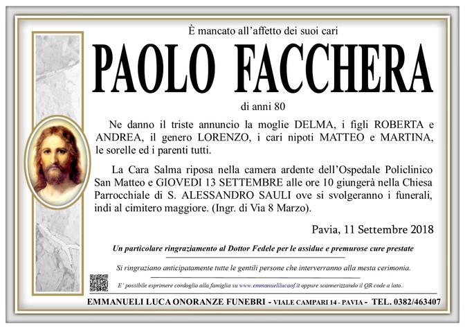 Necrologio di PAOLO FACCHERA