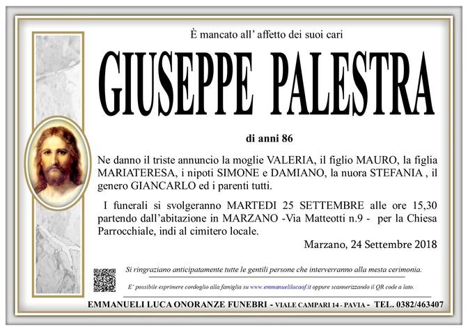 Necrologio di PALESTRA GIUSEPPE