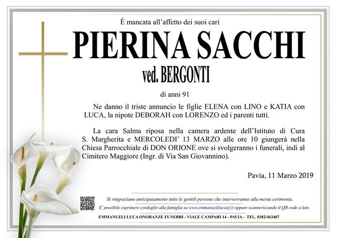 Necrologio di PIERINA SACCHI
