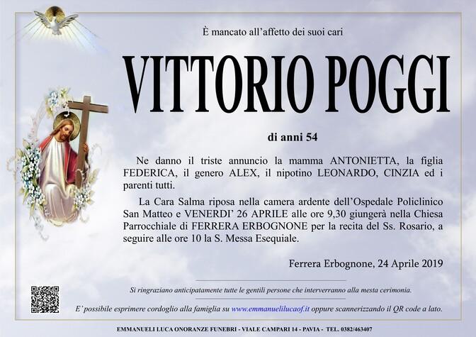 Necrologio di POGGI VITTORIO