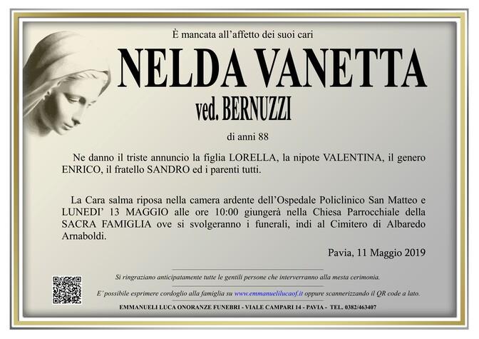 Necrologio di NELDA VANETTA ved.BERNUZZI