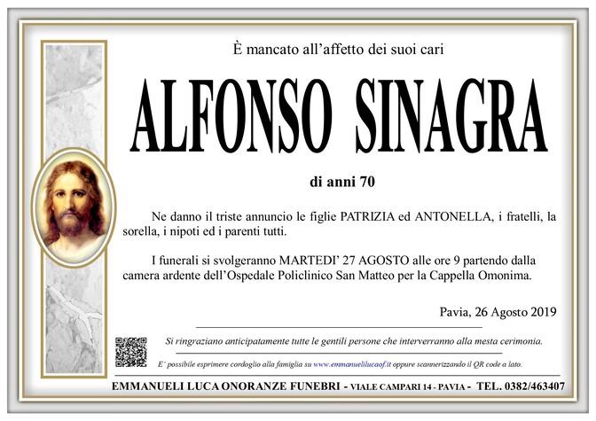 Necrologio di SINAGRA ALFONSO