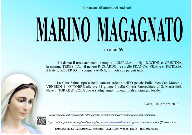 Necrologio di MAGAGNATO MARINO