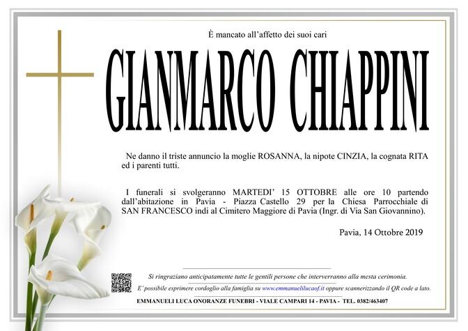 Necrologio di CHIAPPINI GIANMARCO