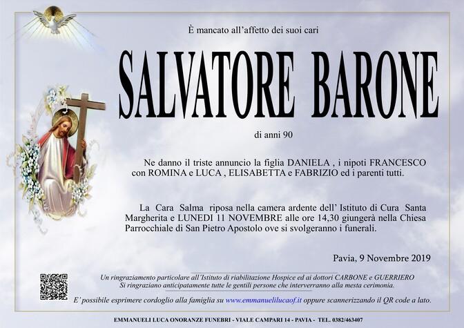 Necrologio di BARONE SALVATORE