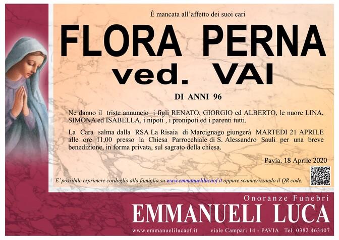 Necrologio di FLORA PERNA