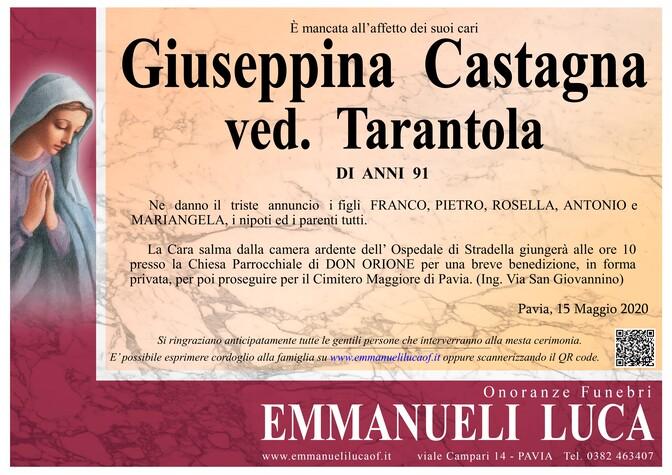 Necrologio di GIUSEPPINA CASTAGNA ved. TARANTOLA
