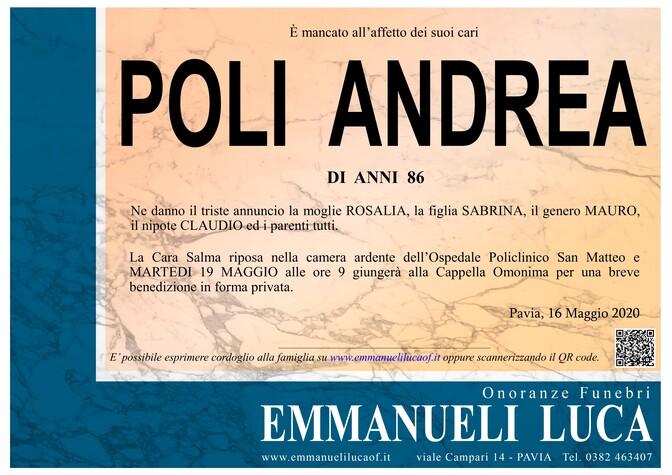 Necrologio di POLI ANDREA
