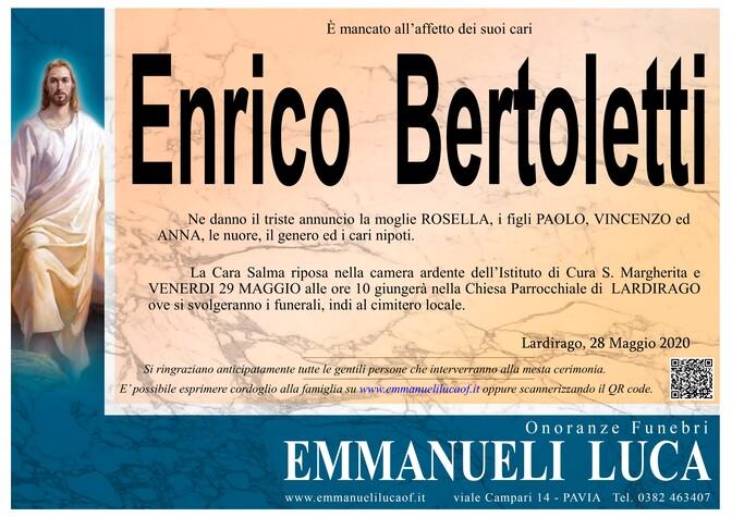 Necrologio di BERTOLETTI ENRICO