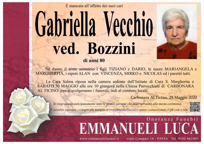 Necrologio di VECCHIO GABRIELLA ved. BOZZINI