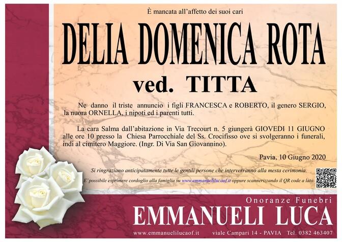 Necrologio di ROTA DELIA DOMENICA