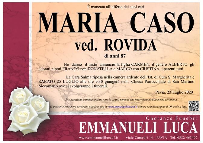 Necrologio di CASO MARIA ved. ROVIDA