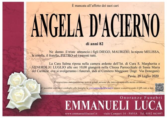 Necrologio di D' ACIERNO ANGELA