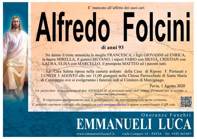 Necrologio di ALFREDO FOLCINI