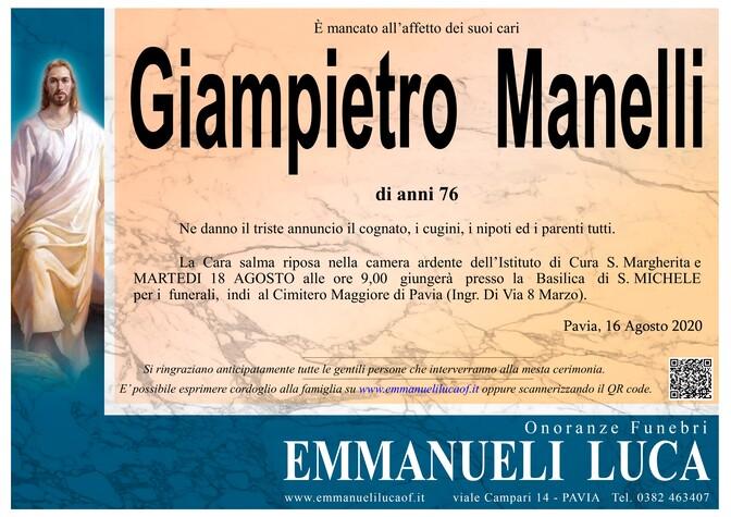 Necrologio di MANELLI GIAMPIETRO