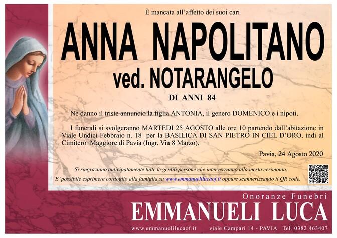 Necrologio di NAPOLITANO ANNA ved. NOTARANGELO