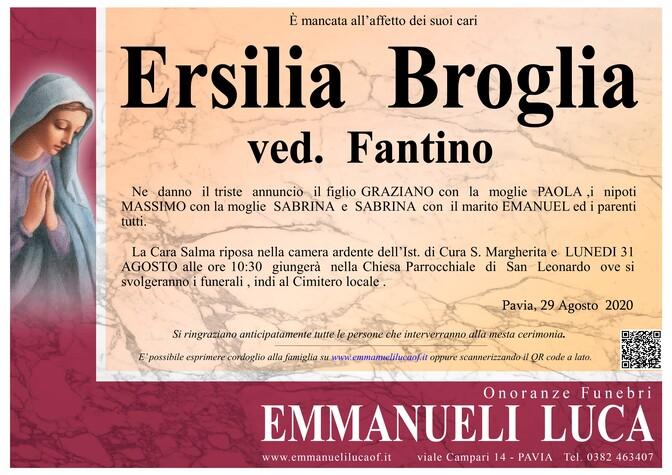 Necrologio di ERSILIA BROGLIA