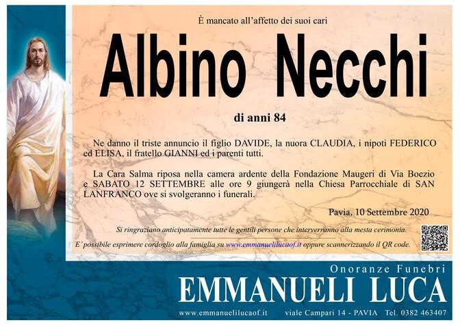 Necrologio di NECCHI ALBINO