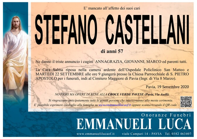 Necrologio di CASTELLANI STEFANO