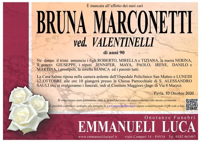 Necrologio di BRUNA MARCONETTI ved. VALENTINELLI