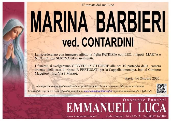 Necrologio di BARBIERI MARINA ved. CONTARDINI