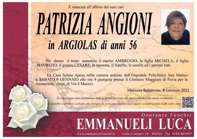 Necrologio di ANGIONI PATRIZIA in ARGIOLAS