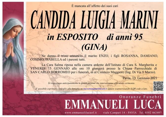 Necrologio di MARINI CANDIDA LUIGIA in ESPOSITO