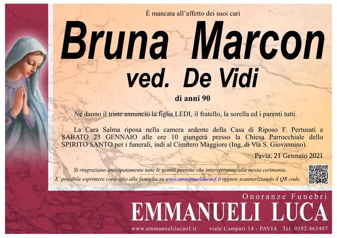 Necrologio di MARCON BRUNA ved. DE VIDI