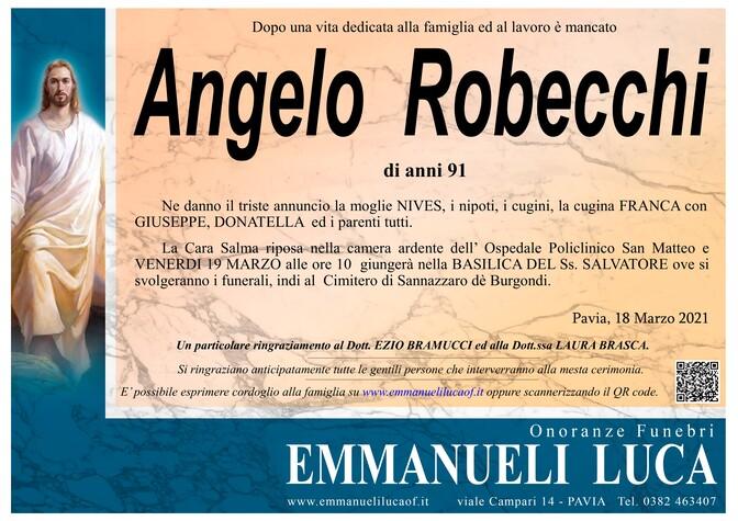 Necrologio di ROBECCHI ANGELO