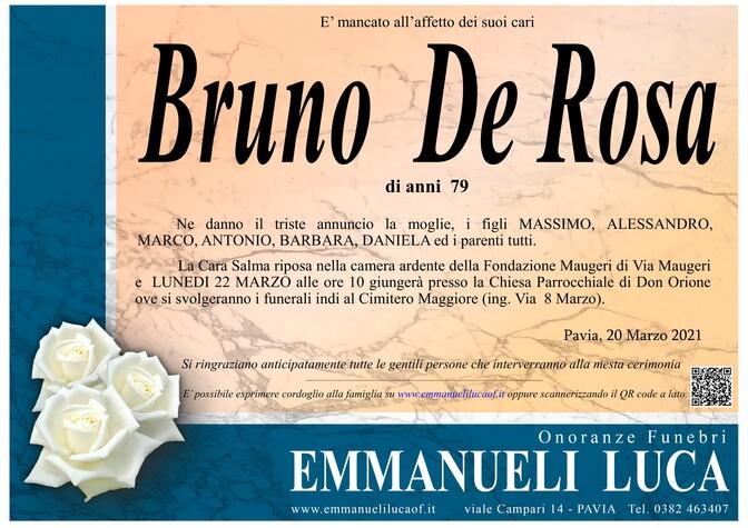 Necrologio di DE ROSA BRUNO
