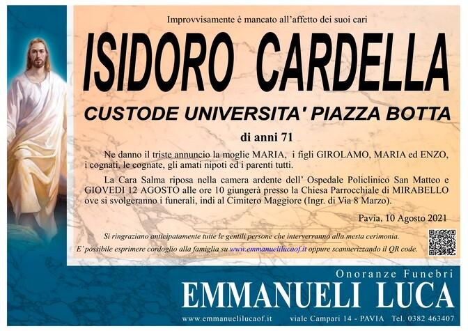 Necrologio di CARDELLA ISIDORO