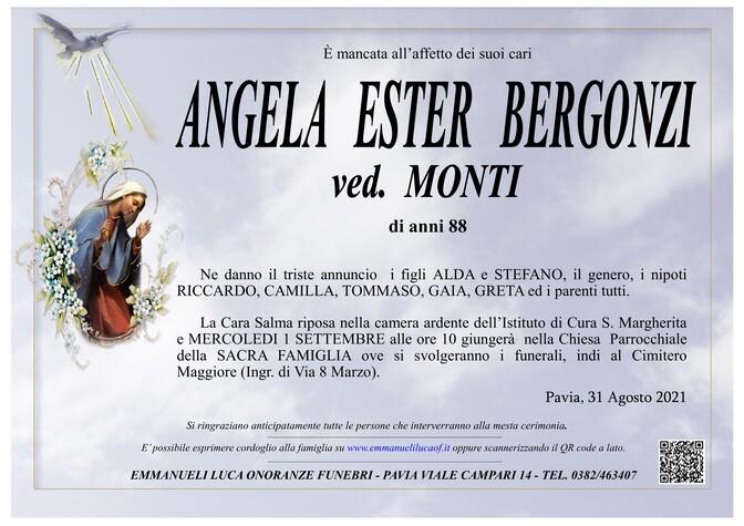 Necrologio di BERGONZI ANGELA ESTER ved. MONTI