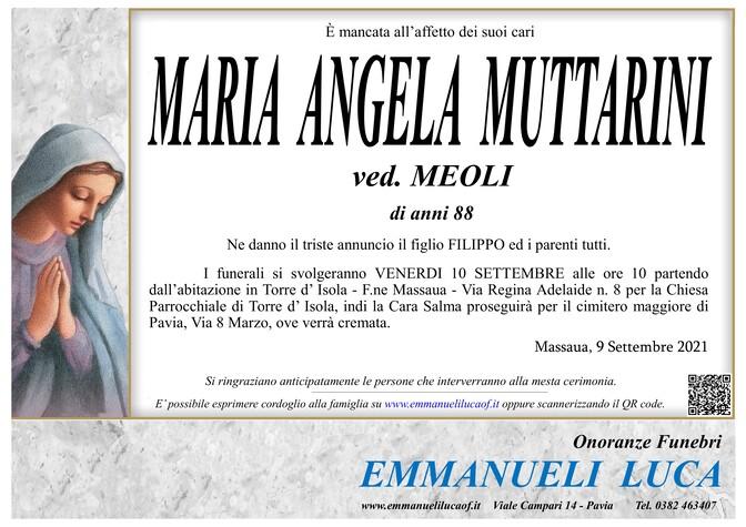 Necrologio di MUTTARINI MARIA ANGELA