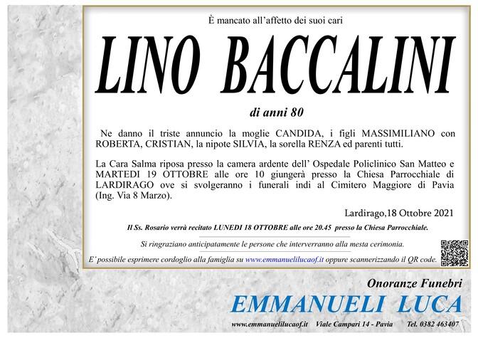 Necrologio di BACCALINI LINO