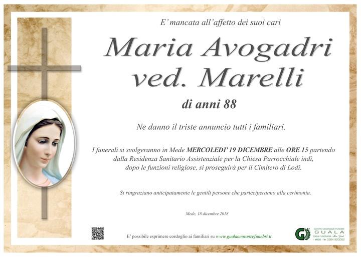 Necrologio di Maria Avogadri ved. Marelli