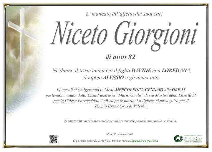 Necrologio di Niceto Giorgioni